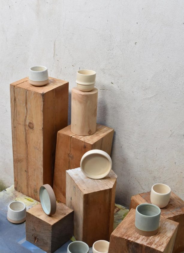 Wheel-thrown-stoneware-coffee-cups-and-saucers-sets